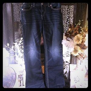 **Silver Suki** slim bootcut Joga jeans 32x33